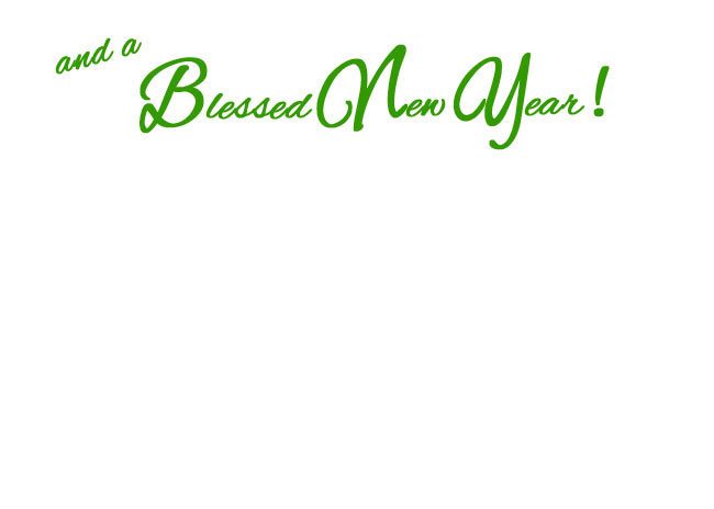 "Choose blank inside/back of your card or ""and a Blessed New Year!"""